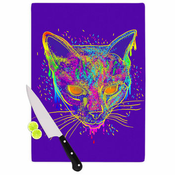 "Frederic Levy-Hadida ""Candy Cat Purple"" Rainbow Purple Cutting Board"