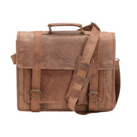 Mac&Lou Cornelius Leather Briefcase - Brown