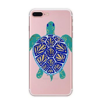 protect turtles cover case for iphone 7 7plus iphone 6s 6 plus iphone x 8 plus with gift box  number 1