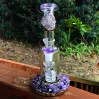 """Water pipe"" Amethyst Goddess"