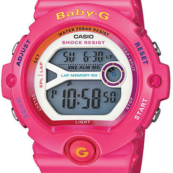 Casio Ladies Baby-G Digital Runners Watch - Hot Pink - 200M Water Resistance