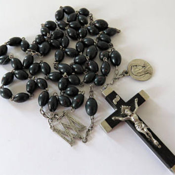 Antique French, Bloodstone, Rosary, SHIPPING INCLUDED