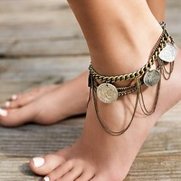 Free People Castaway Coin Anklet