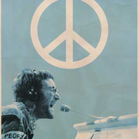 John Lennon People for Peace Poster 24x36