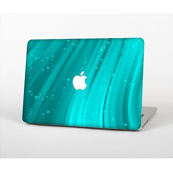 """The Glowing Teal Abstract Waves Skin Set for the Apple MacBook Air 13"""""""