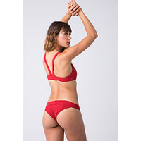 Scout Low Rise Skimpy Bikini Bottom - Crimson Red