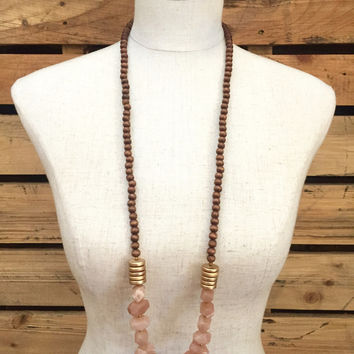 Betsy Pittard Designs- Angelica Necklace- Peach