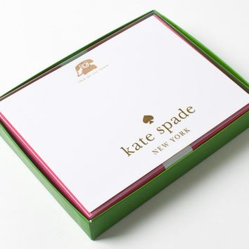 Stationery | Talk Of The Town Engraved Flat Note Cards by Kate Spade