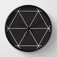 blackout triangles Wall Clock by dani