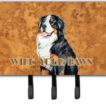 Bernese Mountain Dog Wipe your Paws Leash or Key Holder