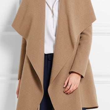 Harris Wharf London - Draped wool-felt coat