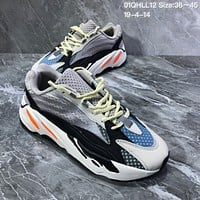 DCCK2 A1188 Adidas Yeezy Boost 700 V2 3M Fluorescent tethered lines Retro Running Shoes