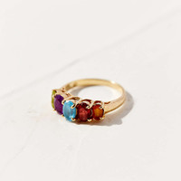 Diament Jewelry Vintage 10K Gold Multi-Stone Ring - Urban Outfitters