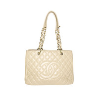 Coco Chanel Tan  Caviar Leather Jumbo Shoulder bag