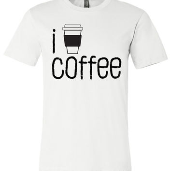 I COFFEE COFFEE - Canvas Unisex T-Shirt