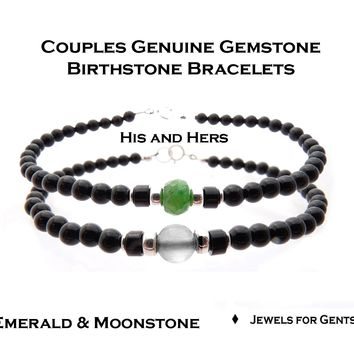His and Her Bracelets, Couples Bracelet Set, Matching Couple Beaded Friendship Bracelet, Father Son