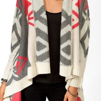 Colorblocked Geo Cardigan