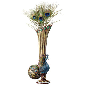 Park Avenue Collection Peacock Bud Vase