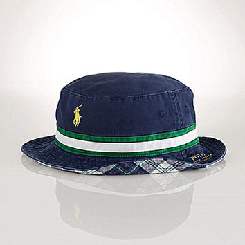 Polo Ralph Lauren Reversible Tartan Bucket Hat - Newport Navy/Green/Wh