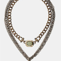Topshop 'Ram' Multi Row Chain Necklace