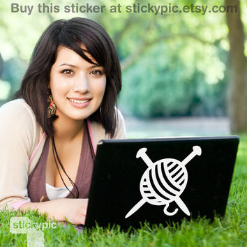 Knit It (Laptop Decal Removable Vinyl Laptop Sticker Computer Decal Apple Macbook Mac Geekery Wall Sticker Craft)