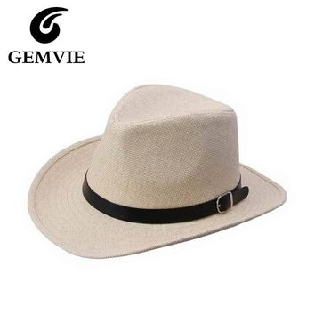 1pc Multi-color Straw Material Hat Leather Band Decor Woman Man Party Cowboy Cap 6 Styles Available DUO