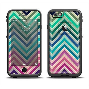 The Vibrant Colored Chevron Layered V4 Apple iPhone 6 LifeProof Fre Case Skin Set