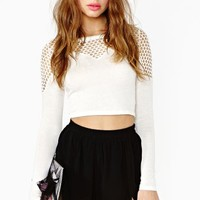Catch Crop Top - White