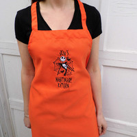 Jack Skellington Nightmare Before Christmas Apron - Embroidered and Personalized Apron