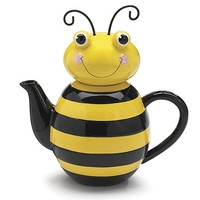 Honey Bee Shaped Ceramic Teapot