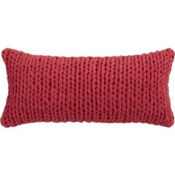 """Northport Knit 23""""x11"""" Pillow With Down-alternative Insert"""