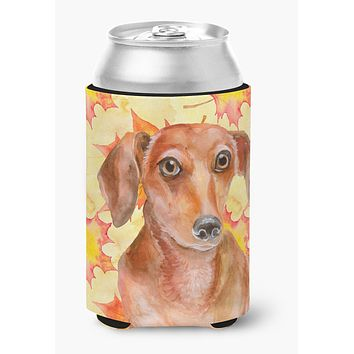 Red Dachshund Fall Can or Bottle Hugger