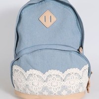 new authentic lace lace handbag backpack schoolbag -EMS