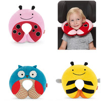 baby Neck protection Stroller Car Seat U-shaped travel pillow car seat cushion Animal Print Cartoon Style Car Seat neck care