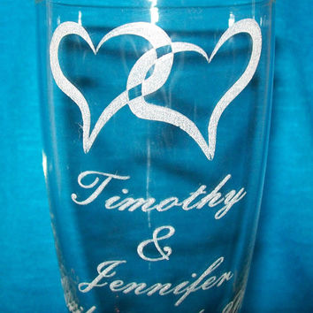 Personalized Champagne Flutes, Custom Engraved Toasting Glasses, Engraved Gift