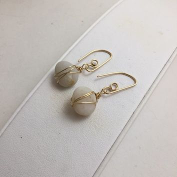 Pebbles wire wrapped in Gold Fill beach jewelry organic material 3436045b7a