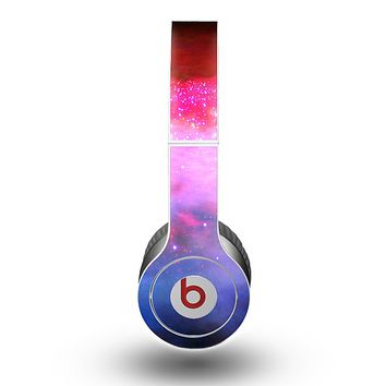 The Vivid Pink and Blue Space Skin for the Beats by Dre Original Solo-Solo HD Headphones
