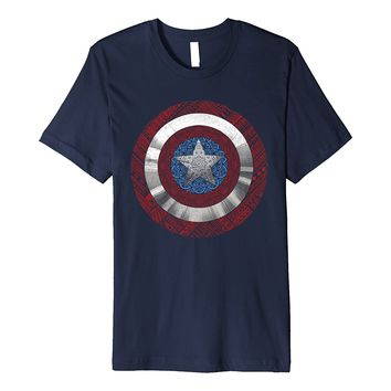 Marvel Captain America Avenger Ornate Shield Premium T-Shirt