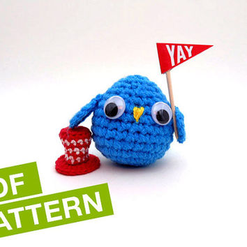 Cute Owl CROCHET PATTERN -  Instant Download. Amigurumi Owl Pattern.