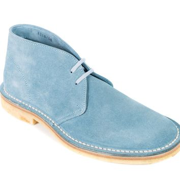 Church's Donna Baby-Blue Suede Ankle Desert Boots