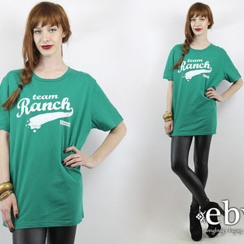 Vintage 90s TEAM RANCH T shirt S M L Vintage Tee Ranch Tee Hipster Tee Vintage T Shirt Ranch Dressing Ranch Gift