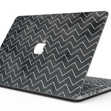 Black Watercolor with White Chevron - MacBook Pro with Retina Display Full-Coverage Skin Kit