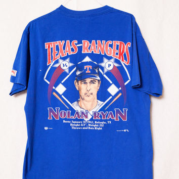 Texas Rangers Nolan Ryan Vintage T-Shirt, Blue XL Texas Rangers T-Shirt