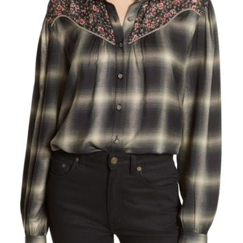 The Kooples James Floral Print Western Shirt | Nordstrom