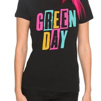 Green Day Three Color Logo Girls T-Shirt - 143150