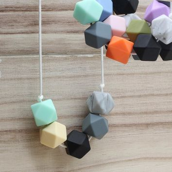 BPA Free Silicone Chew Beads Teething Necklace