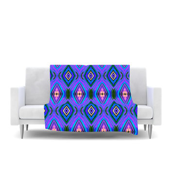 "Anne LaBrie ""Dark Diamond"" Purple Blue Fleece Throw Blanket"