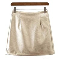 Metallic Satin Skirt