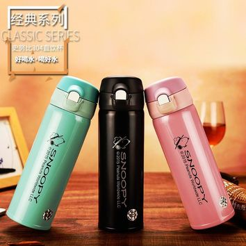 Snoopy Hot Thermo Mug Vacuum Cup Stainless Steel thermos Bottle Belly cup Thermal Bottle for water Insulated Tumbler For Car Cof