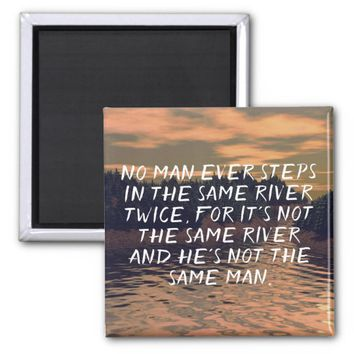 Heraclitus Quote Motivational Wisdom Magnet